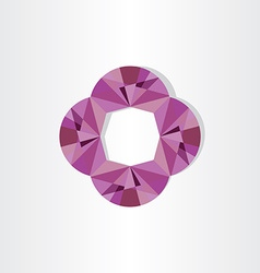 abstract purple geometric background vector image