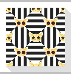 Animal seamless pattern collection with cat 7 vector