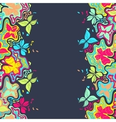Butterfly border color vector