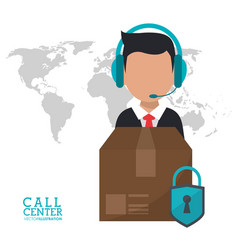 Call center man delivery security support vector