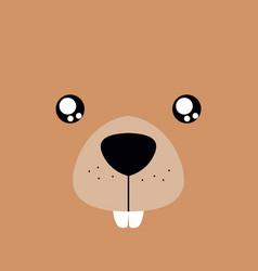 Cartoon beaver background vector