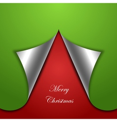 chirstmas tree background vector image