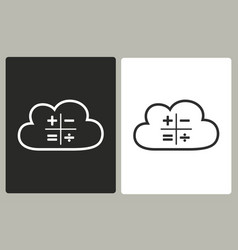 cloud computing - icon vector image vector image