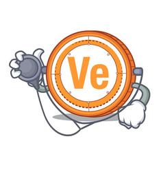 Doctor veritaseum coin character cartoon vector