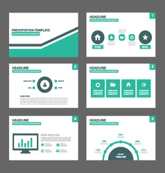 Green Black presentation templates Infographic vector image vector image