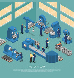 Heavy industry production facility isometric vector