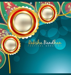 Indian rakshabandhan background vector