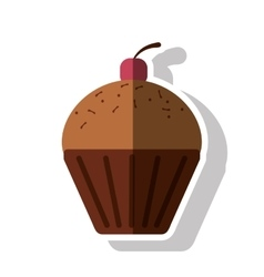 Isolated muffin food design vector