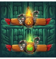 Jungle shamans gui boosters fire and earth vector