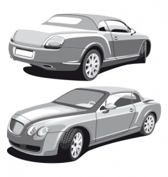 luxury car gray vector image vector image