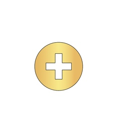 Medical cross computer symbol vector