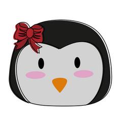 penguin cute animal cartoon icon image vector image