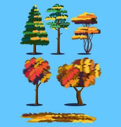 plants in autumn vector image vector image
