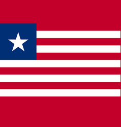republic of liberia national flag vector image vector image