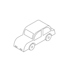 Retro car icon isometric 3d style vector