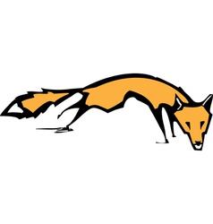 Running Fox vector image vector image