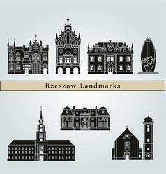 rzeszow landmarks vector image vector image