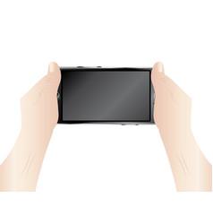 Smartphone in hands vector
