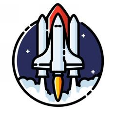 Space shuttle launch vector