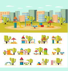 Summer playground concept vector