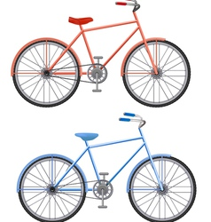 Two bikes vector