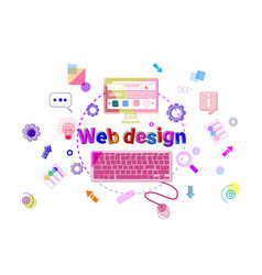 web design concept creative process software vector image