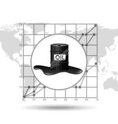 Barrel oil industry growth diagram background vector