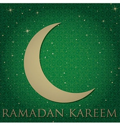 crescent moon Ramdan card vector image