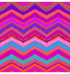 Hand drawn zigzag pattern in bright pink vector