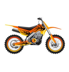 Sport motorcycle with tribal design vector