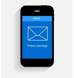 Inbox mail flat concept vector
