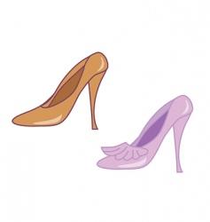 woman's high heel shoes vector image