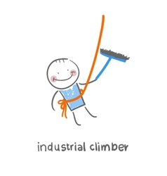 Industrial climber vector