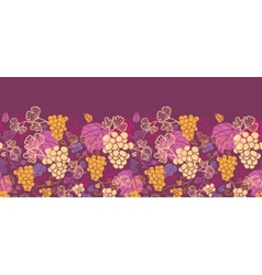 Sweet grape vines horizontal seamless pattern vector