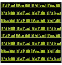 Books on a shelf seamless vector