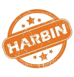 Harbin round stamp vector