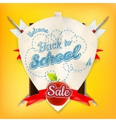 Back to school marketing background eps 10 vector