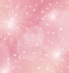 Abstract floral light pink background vector