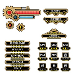 Game user interface-gear vector