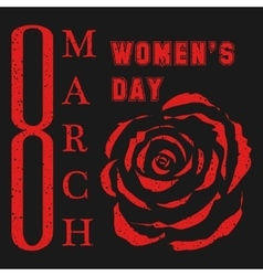 8 March Womens day design vector image vector image