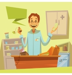 Pharmacy salesman vector