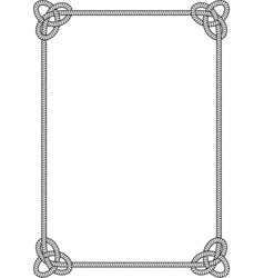 Sea knot frame vector