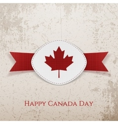 Happy canada day holiday card template vector