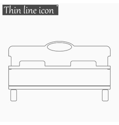 Bed icon style thin line vector