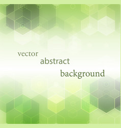 abstract geometrical green background vector image vector image