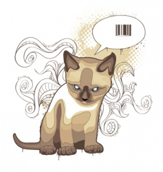 bizarre cat vector image