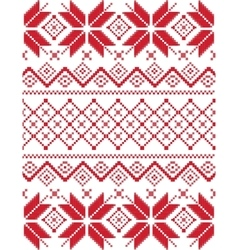 Bright pixel snowflake pattern vector