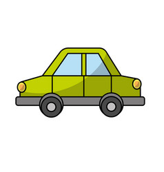 car design to transportation with tires and doors vector image vector image