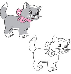 catwithribbon vector image vector image