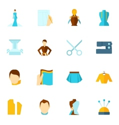 Clothes designer icon flat vector